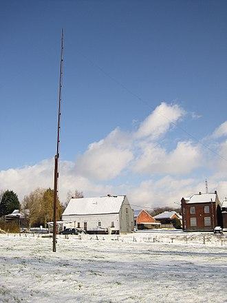 Popinjay (sport) - Popinjay mast for archery in Havré (Belgium)