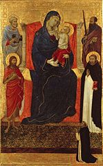 Virgin and Child Enthroned with Saints Peter, Paul, John the Baptist, Dominic and a Donor