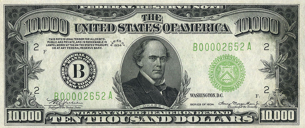 File 10000 Usd Note Series Of 1934 Obverse Jpg Wikimedia Commons
