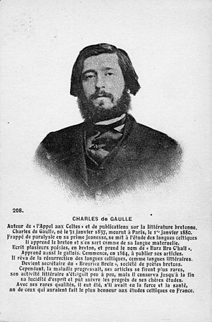 Charles de Gaulle (poet) - A postcard depicting Charles de Gaulle