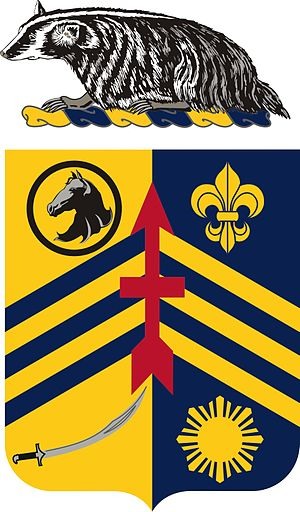 105th Cavalry Regiment - Image: 105Cavalry Regt COA