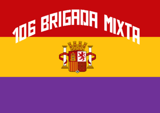 Mixed brigade - Standard of the 106 Mixed Brigade of the Popular Army of the Spanish Republic