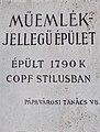 10 Fő Square, sign, 2020 Pápa.jpg