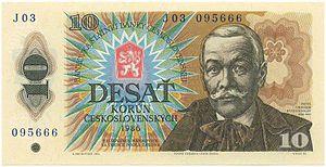 Albín Brunovský - Design of 1980's emission of Czechoslovak banknotes