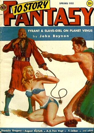 10 Story Fantasy - Cover of the only issue; the artist is James Bama
