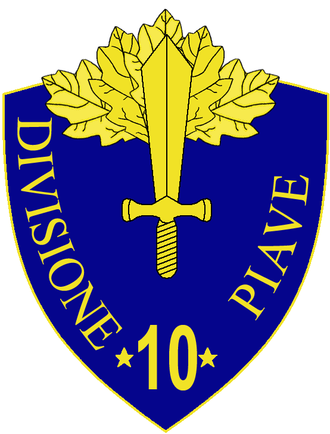 10th Infantry Division Piave - 10th Infantry Division Piave Insignia