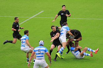 2015 Rugby World Cup - New Zealand beat Argentina 26–16 at Wembley Stadium in London.