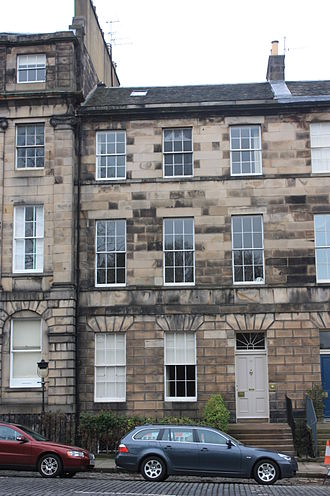 Peter Tait (physicist) - Tait's house at 17 Drummond Place, Edinburgh