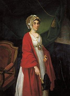 1803. Nikolai Argunov (1771-c1829) - Portrait of Praskovya Ivanovna Zhemchugova-Sheremeteva.jpg