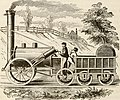 1828 locomotive depicted in Industrial History of the United States (1878).jpg