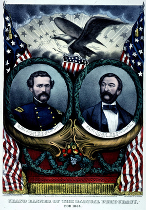 Radical Democracy Party (United States) - Frémont and Cochrane campaign poster