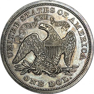 Seated Liberty dollar United States silver dollar coin minted from 1840–1873