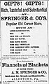 1883 - A M Springer & Company Newspaper Ad Allentown PA.jpg