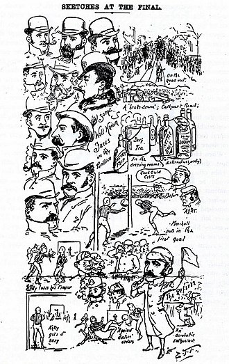1889 Scottish Cup Final - 1889 Scottish Cup Final Report from the newspaper 'The Scottish Referee'