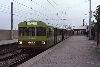 Dublin Area Rapid Transit - 8329 at Howth in October 1985