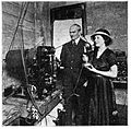 1921 Mary White and Lee DeForest at station 6XC.JPG