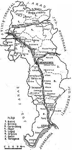 File 1938 Map Of Interwar County Severin Jpg Wikimedia Commons