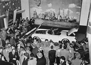 Chevrolet Corvette - 1953 Chevrolet Corvette displayed at the 1953 GM Motorama car show.