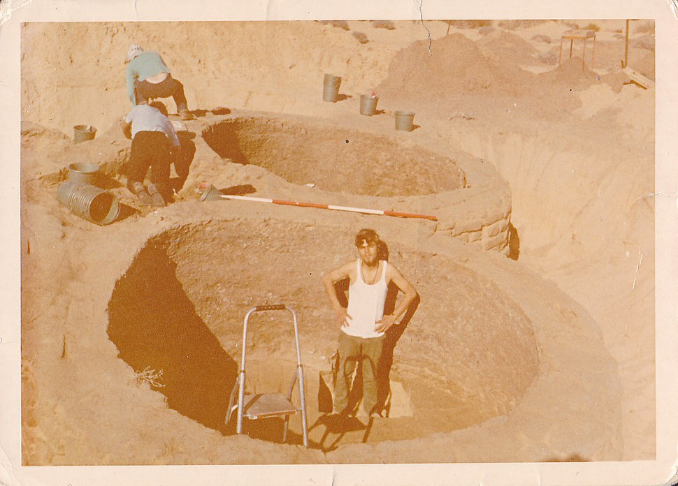 1974 excavation in an ancient silo in Bir al-Abed