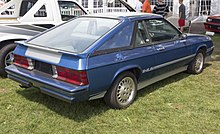 rear view of the 1982 dodge shelby charger prototype, mostly  indistinguishable from production cars