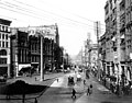 1st Ave looking north from James St, Seattle, 1900 (CURTIS 2069).jpeg