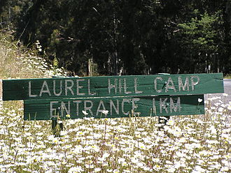 Laurel Hill, New South Wales - Sign for Laurel Hill Camp