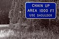2006-08-01 - 11 - Road Trip - Day 09 - United States - Montana - Sign - Chain Up Area - Bondage on t 4889354750.jpg