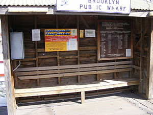 Dangar Island - The Brooklyn ferry wharf to Dangar Island