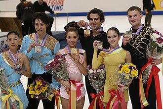 Yuri Larionov - Bazarova/Larionov at the 2007 Skate America