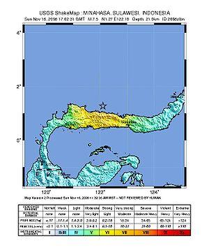 2008 Sulawesi earthquake - Image: 2008 Sulawesi earthquake