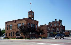 Pine Island, Minnesota - City Hall and downtown Pine Island