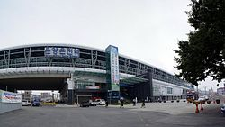 2009-09-25 - Panorama outside Onyang Oncheon Station.jpg
