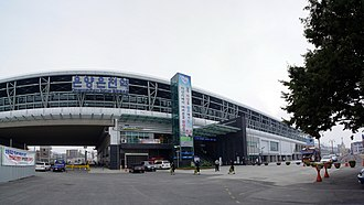 Onyang-dong - Image: 2009 09 25 Panorama outside Onyang Oncheon Station
