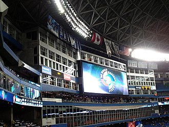 2009 World Baseball Classic - Jumbotron ad for the 2009 WBC at Rogers Centre