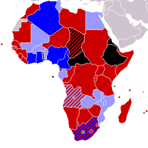 2010 FIFA World Cup qualification (CAF) - Image: 2010 FIFA WC and ACN Qualified Teams map