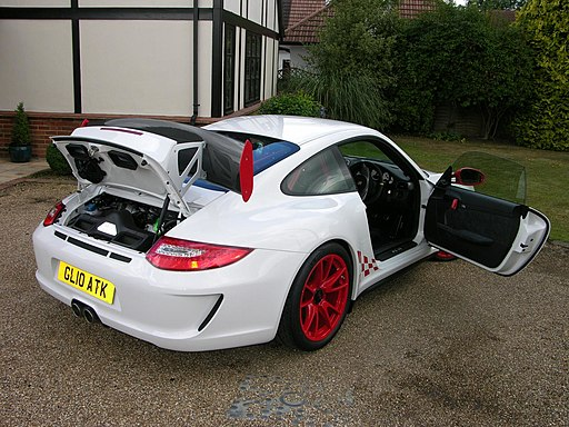 2010 Porsche 997 GT3 RS 3.8 drivers door and engine bonnet
