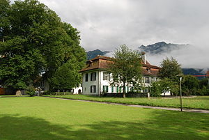 Interlaken - The New Castle was built in 1746-50 on the site of the monastery's west wing
