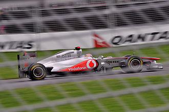 2011 Australian Grand Prix - Lewis Hamilton was Sebastian Vettel's closest challenger all weekend finishing 22 seconds off the lead.