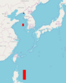 2012 North Korea rocket launch No sail, no fly zone map.png
