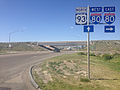 2014-06-11 16 02 30 Signs along northbound U.S. Route 93 just south of Interstate 80 and Alternate U.S. Route 93 in Wells, Nevada.JPG