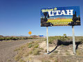 2014-06-11 17 21 46 Signs along eastbound Utah State Route 30 at the Nevada state line.JPG