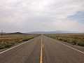 2014-07-17 10 43 35 View west along U.S. Route 6 about 82.0 miles east of the Esmeralda County Line in Nye County, Nevada.JPG