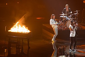Austria in the Eurovision Song Contest 2015 - The Makemakes at a dress rehearsal for the final