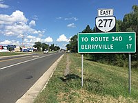 2016-08-23 15 40 07 View east along Virginia State Route 277 (Fairfax Pike) at Ridgefield Avenue just east of Stephens City in Frederick County, Virginia.jpg