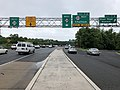 2018-06-21 08 11 15 View west along New Jersey State Route 24 at Exit 7B (River Road, Summit) in Millburn Township, Essex County, New Jersey.jpg