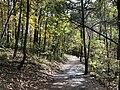 2018-10-27 13 19 27 View southeast down a trail alongside Cedar Creek within Natural Bridge State Park in Natural Bridge, Rockbridge County, Virginia.jpg