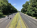 2019-07-12 10 22 56 View southwest along Interstate 495 (Capital Beltway) from the overpass for Fernwood Road on the edge of Bethesda and North Bethesda in Montgomery County, Maryland.jpg