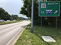 2020-06-22 16 42 38 View west along Maryland State Route 177 (Mountain Road) at the exit for Maryland State Route 10 NORTH (TO Interstate 695) along the edge of Pasadena and Glen Burnie in Anne Arundel County, Maryland.jpg