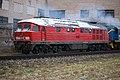 233 285-6, Латвия, Даугавпилс, Даугавпилсский локомотиворемотный завод (Trainpix 211707).jpg