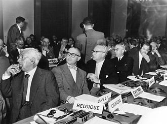 World Jewish Congress - Delegates at World Jewish Congress 25th Anniversary Conference, Geneva, Switzerland, 1961